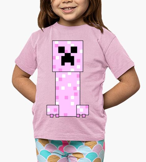 Vêtements enfant minecraft rose creeper (fille)
