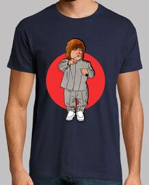 Mini me Tyrion - Hombre, manga corta, azul marino, calidad extra