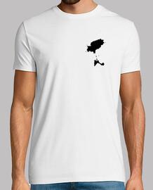 MINIMAL IBIZA Hombre, manga corta, blanco, calidad extra