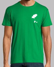 MINIMAL IBIZA Hombre, manga corta, verde pradera, calidad extra