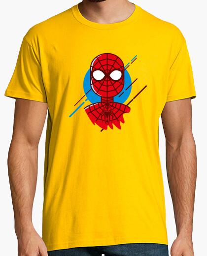 Camiseta minimal SPIDERMAN, Hombre, manga corta, amarillo mostaza, calidad extra