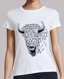 minimalistischer büffel