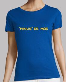 MINUS ES MÁS Y. Camiseta manga corta mujer