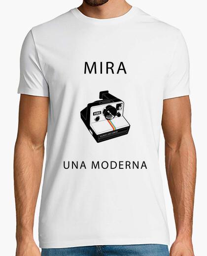 Camiseta Mira una Moderna Blanca Chico