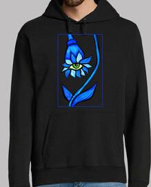 Mirando fijamente azul flor de ojo espe