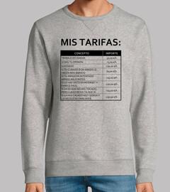 Mis tarifas (fondo claro)