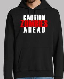 mise en garde! t-shirt zombies haead