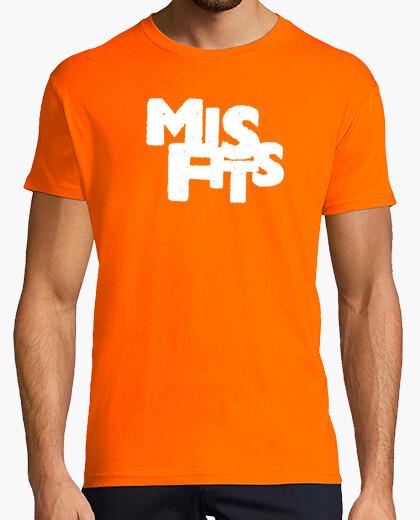 Misfits Y Camisetas Letras Naranja Camiseta 259139 Blancas Nº An6ddp