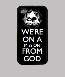 Mission from God, blanco sobre negro