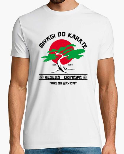 Tee-shirt miyagi faire le karaté
