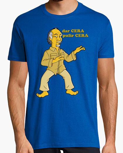 Miyagi Karate kid waxon Waxoff cine cera camisetas friki