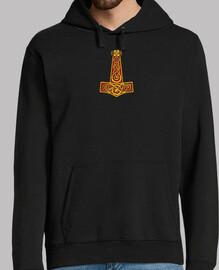 Mjolnir colored sweatshirt, black