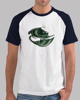 Männer, Baseball T-Shirt, weiß-navy