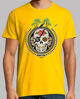 Männer, T-Shirt, goldgelb, Top Qualität
