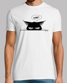 männer t-shirt mürrische schwarze katze