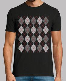moda t-shirt argyle 1950s vintage rombi