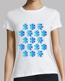 modèle de flocon de neige aquarelle ble