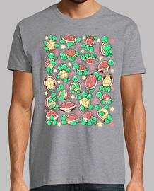 modello tartaruga adorabile mens camicia