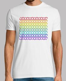 modelo del arco iris camiseta