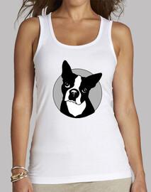 Modelo tirantes blanco ''Bulldog françes''