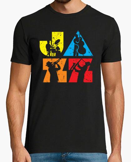 Modern colorful jazz logotype t-shirt