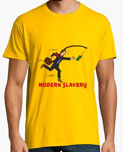 Camiseta Modern slavery (fondo claro)