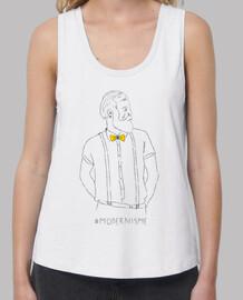 modernisme (antoni gaudi) - samarreta noia, amb exemples tirants i loose fit (tailles