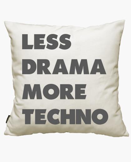 Housse de coussin moins de drame plus de techno
