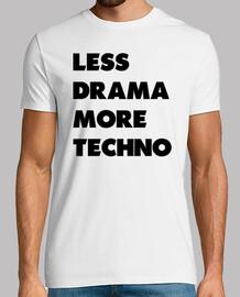 moins drame techno plus noir
