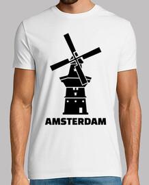 molino de viento de amsterdam