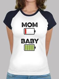 MOM BABY color, blanca