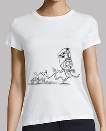 Momia con gato - Camiseta chica