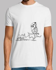 Momia con gato - Camiseta chico