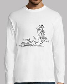 momie avec le chat - t-shirt