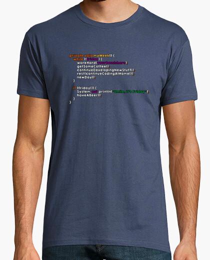Tee-shirt mon algorithme de semaine