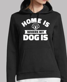 mon chien est à la maison