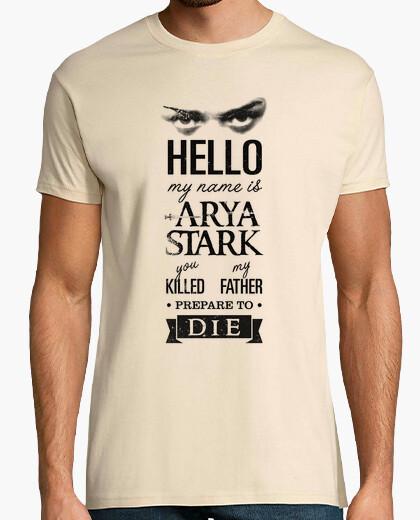 Tee-shirt mon nom est arya stark n ° 1