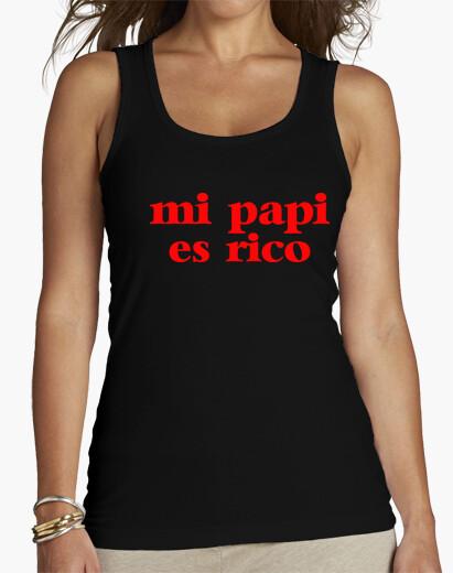 Tee-shirt mon papa est riche