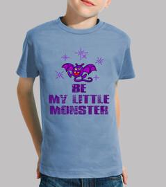 mon petit monstre - enfant, à manches courtes, bleu clair