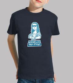 mona lisa - children's t-shirt