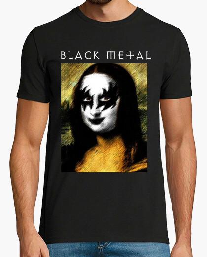 Camiseta Mona Lisa black metal...