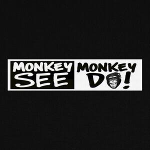 Camisetas MONKEY BUSINESS HORIZ N/B