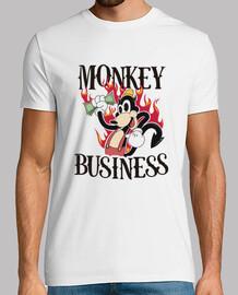 MONKEY BUSINESS SHIRT - WHITE FRONT