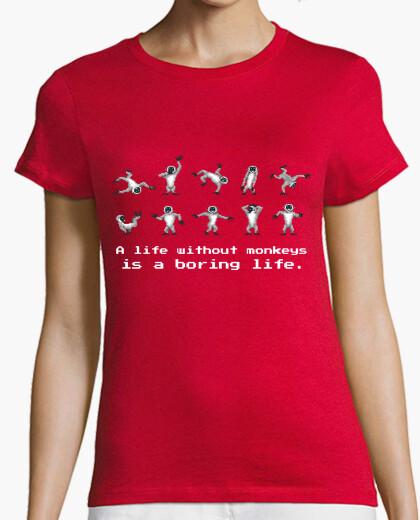 Tee-shirt monkey island - singes (femme)