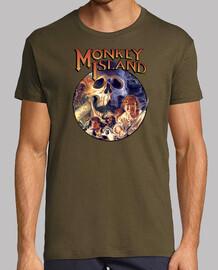 Monkey Island. Manga corta caqui chico