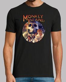 Monkey Island. Manga corta negra chico