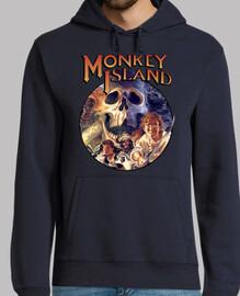 Monkey Island. Sudadera azul marina chico