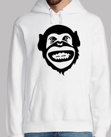 mono chimpancé sonrisa
