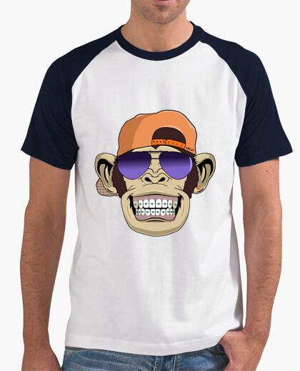 Camiseta Mono con braquets Velut , mangas de color