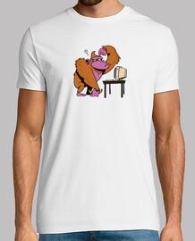 Mono con un ordenador